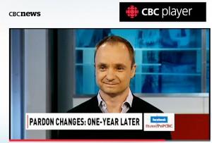 Michael menant une discussion sur la CBC sur les législations pour le Pardon adoptées suite au projet de loi C10